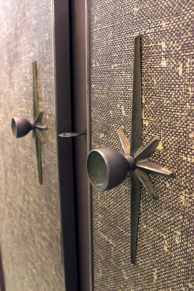 Unusual Locking Mid Century Metal Wardrobe ...